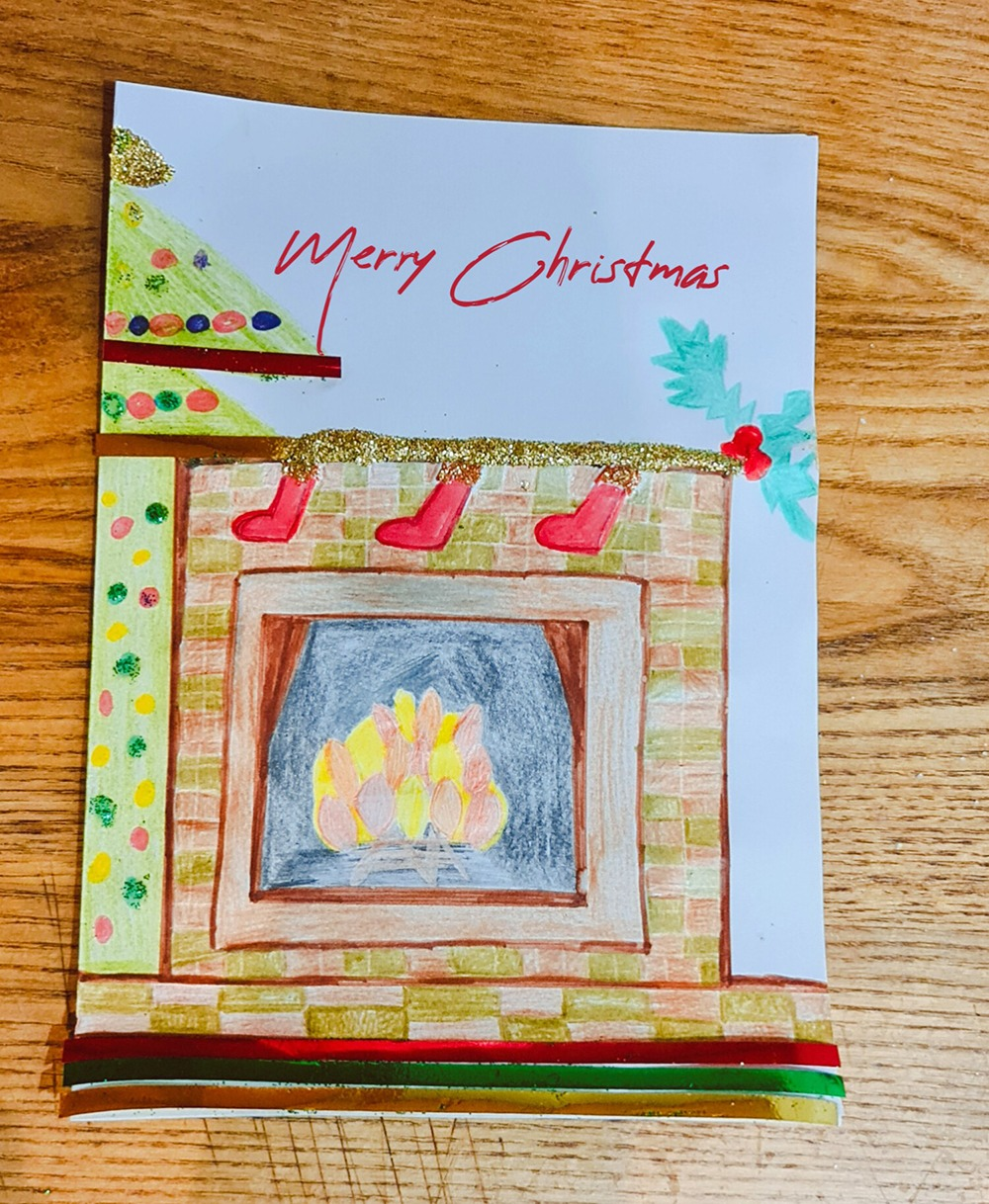 Pebbles Christmas card design competition 2020 Amy Gaines Cobbledyke