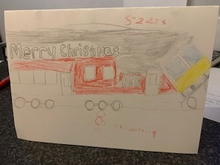 Pebbles Christmas card design competition 2020 Kyle Downs Highview