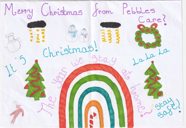 Pebbles Christmas card design competition 2020 ellas christmas cardSt Pauls