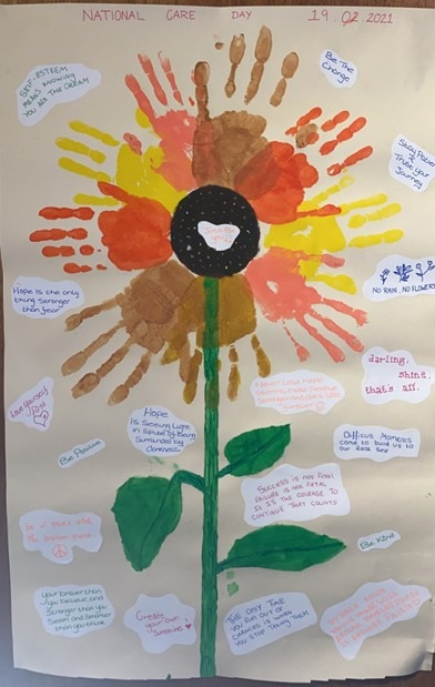 Flower power and smart art Pebbles sunflower competition